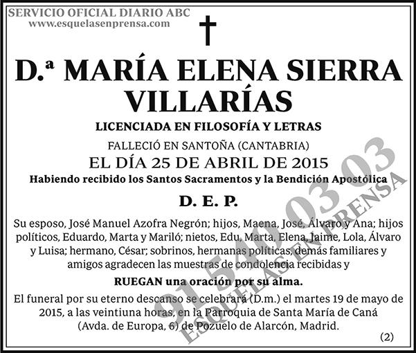 María Elena Sierra Villarías